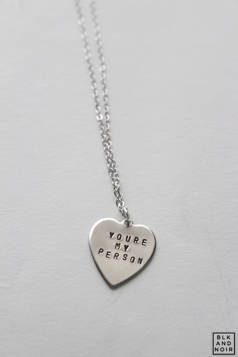 YOU'RE MY PERSON GREY'S ANATOMY HEART NECKLACE