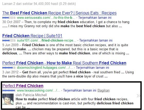 kondisi awal eksperimen plus one Google