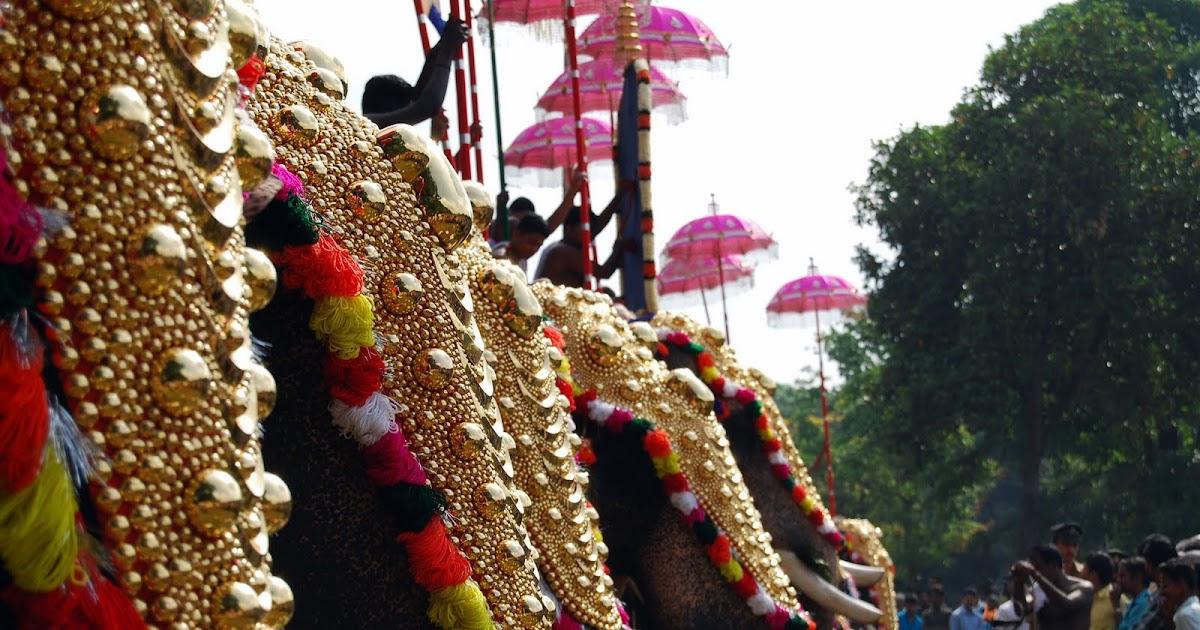 Hot Thrissur Pooram Thrissur Pooram Best Photo Gallery Festival Chaska