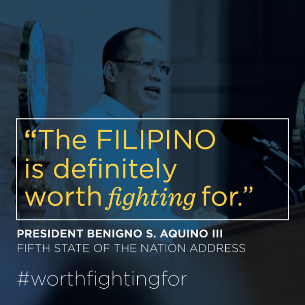 Filipino is worth fighting for - President Benigno Aquino