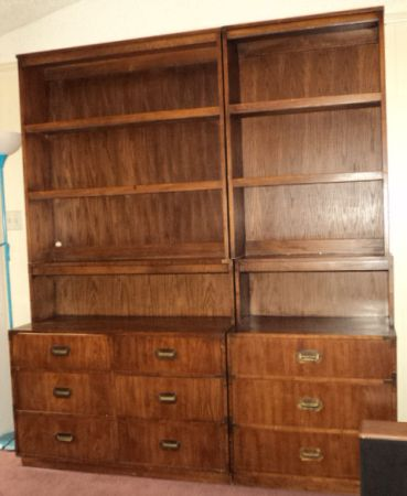 Dixie Campaign Dresser with hutch