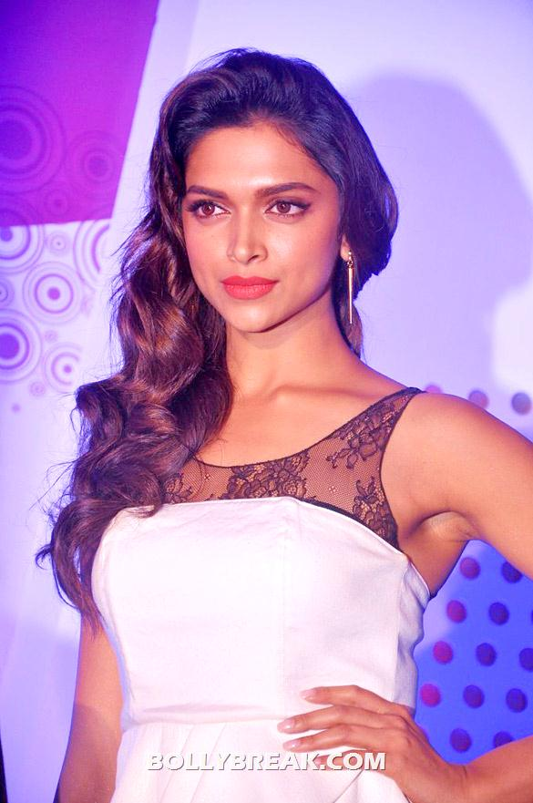 Deepika Padukone in white dress close up  - Deepika in white dress at Yamaha Endorsement