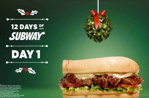Subway 12 Days of Subway Contest