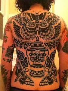 Tattoo delicada de borboletas