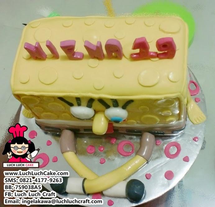 Jual Kue Tart 3D Spongebob Daerah Surabaya - Sidoarjo