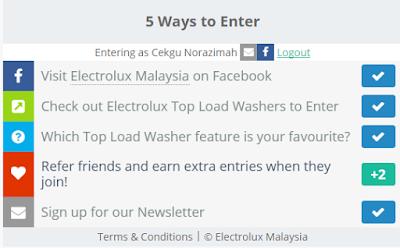 mesin basuh Electrolux, hadiah percuma