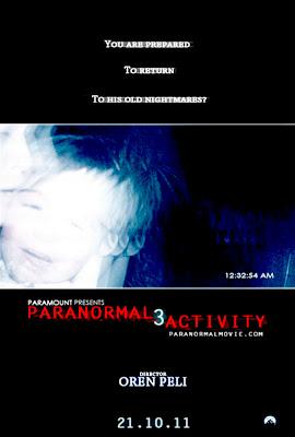 Cartel de la película Paranormal Activity 3, de los directores Henry Joost y Ariel Schulman