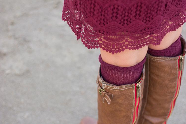 red zipper boots