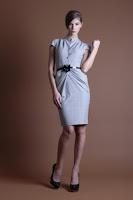 Rochie midi cu detalii drapate Nola Fashion
