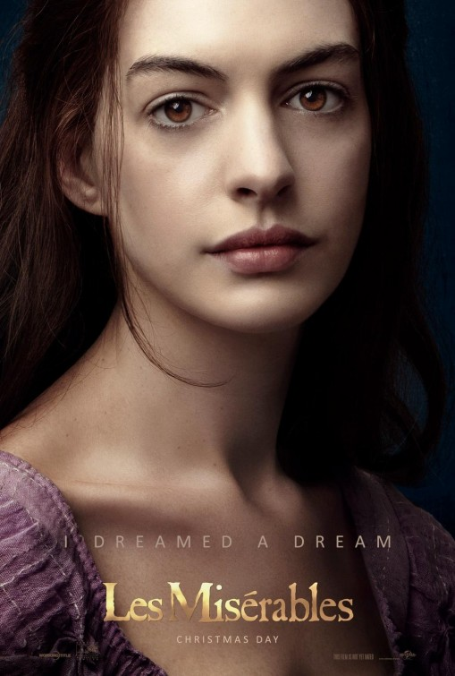 Anne Hathaway Les Misérables movie poster