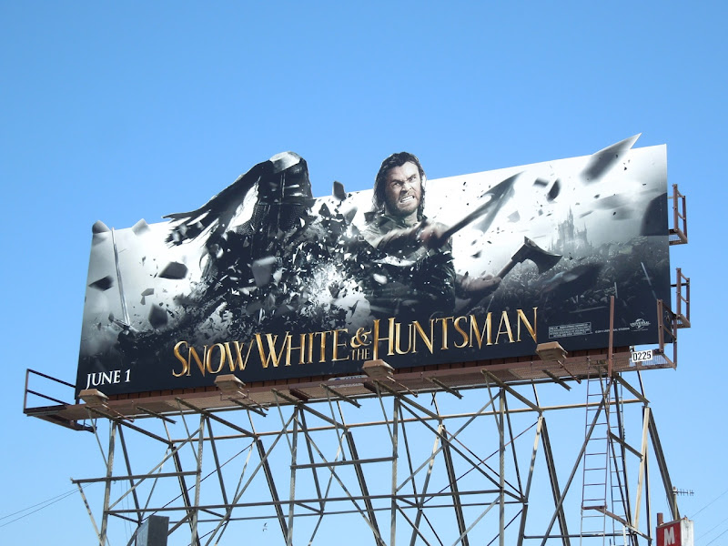Snow White Huntsman Chris Hemsworth billboard