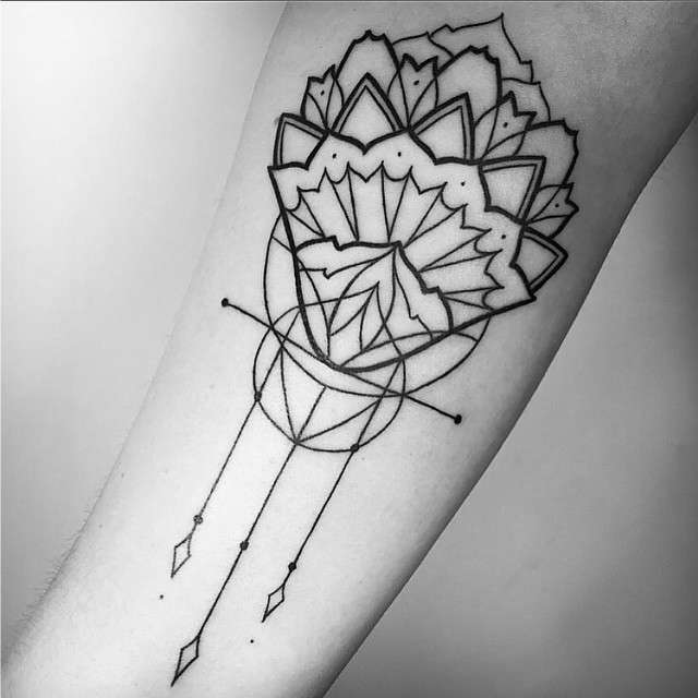 Tatuagens Femininas Linework Tattoo Melina Wendlandt