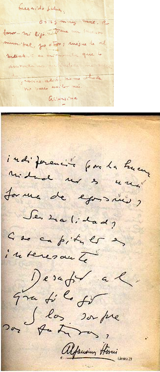 Cambios en la letra de Alfonsina Storni