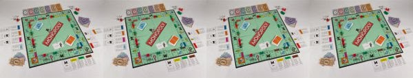 Four monopoly boards