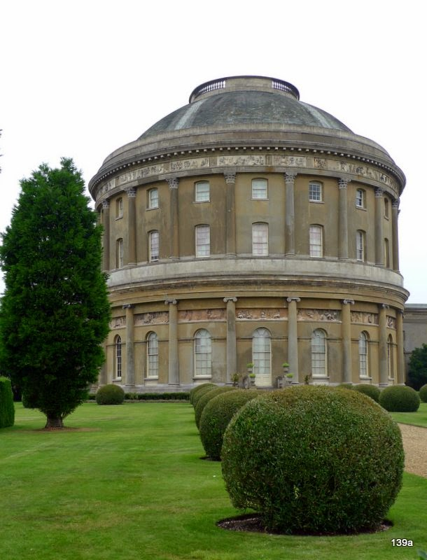 Exploring the house at Ickworth