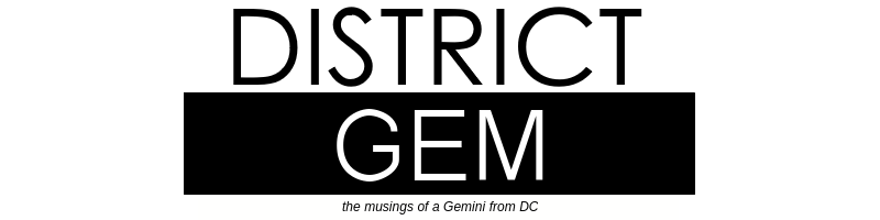 A DISTRICT GEM blog