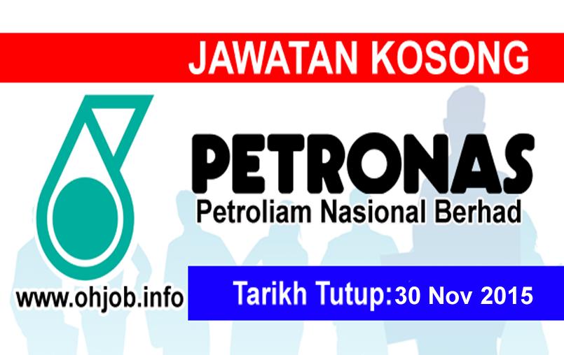 Jawatan Kerja Kosong Petroliam Nasional Berhad (PETRONAS) logo www.ohjob.info november 2015