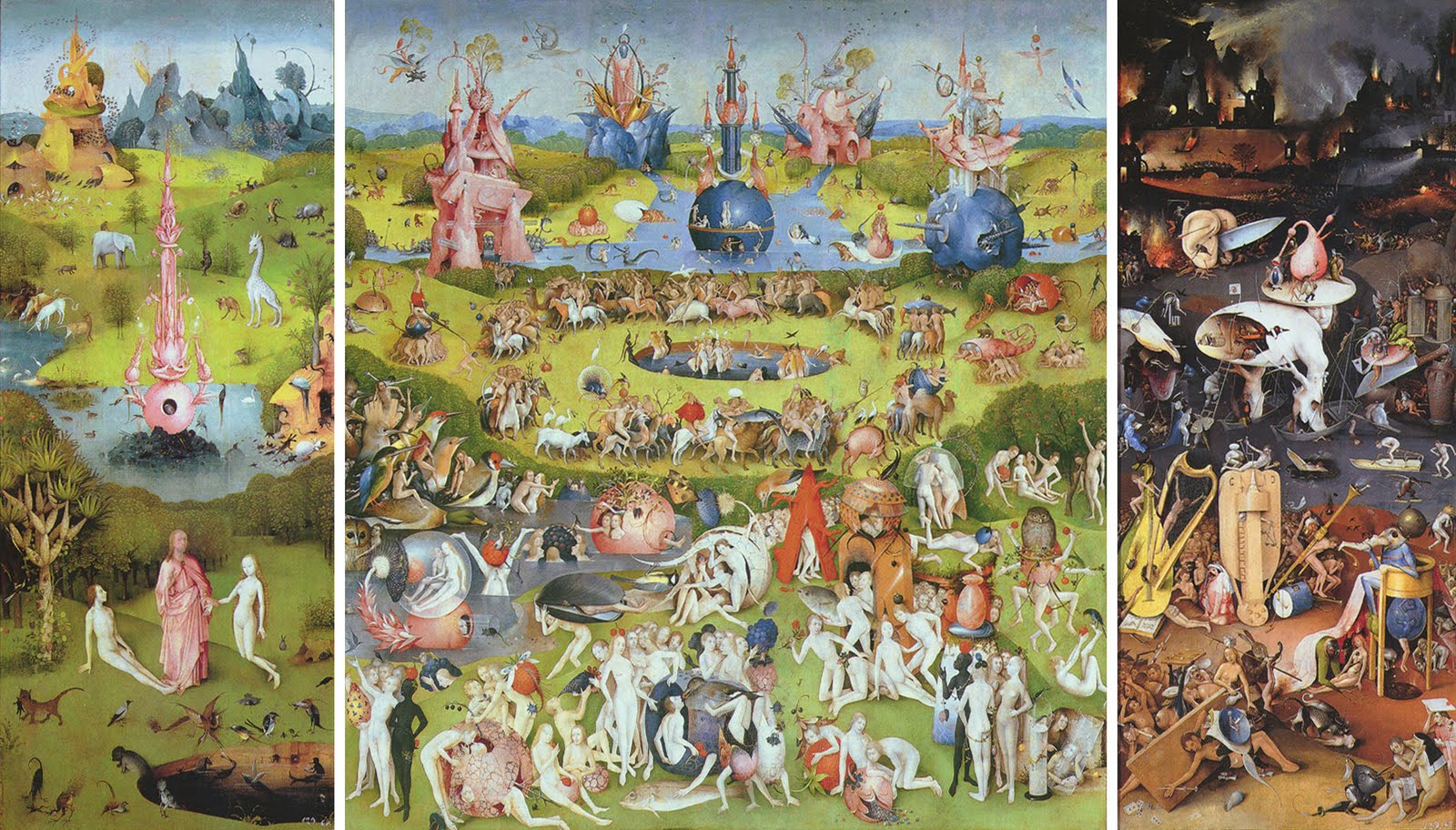 Computergrafik the triptych static motion based for The garden of earthly delights