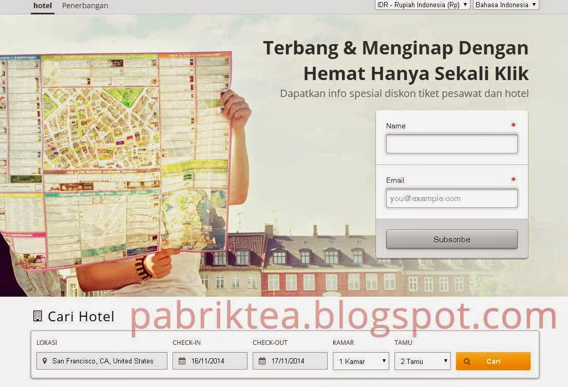 Membuat Web Travel dari Affiliate Wego White List