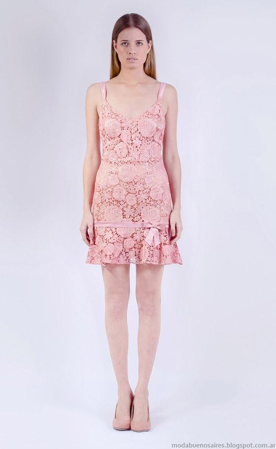 Vestidos de encaje primavera verano 2015 Natalia Antolin.