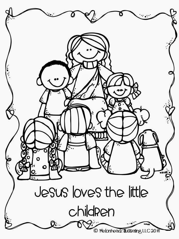 Melonheadz lds illustrating general conference goodies for Jesus loves the little children coloring page