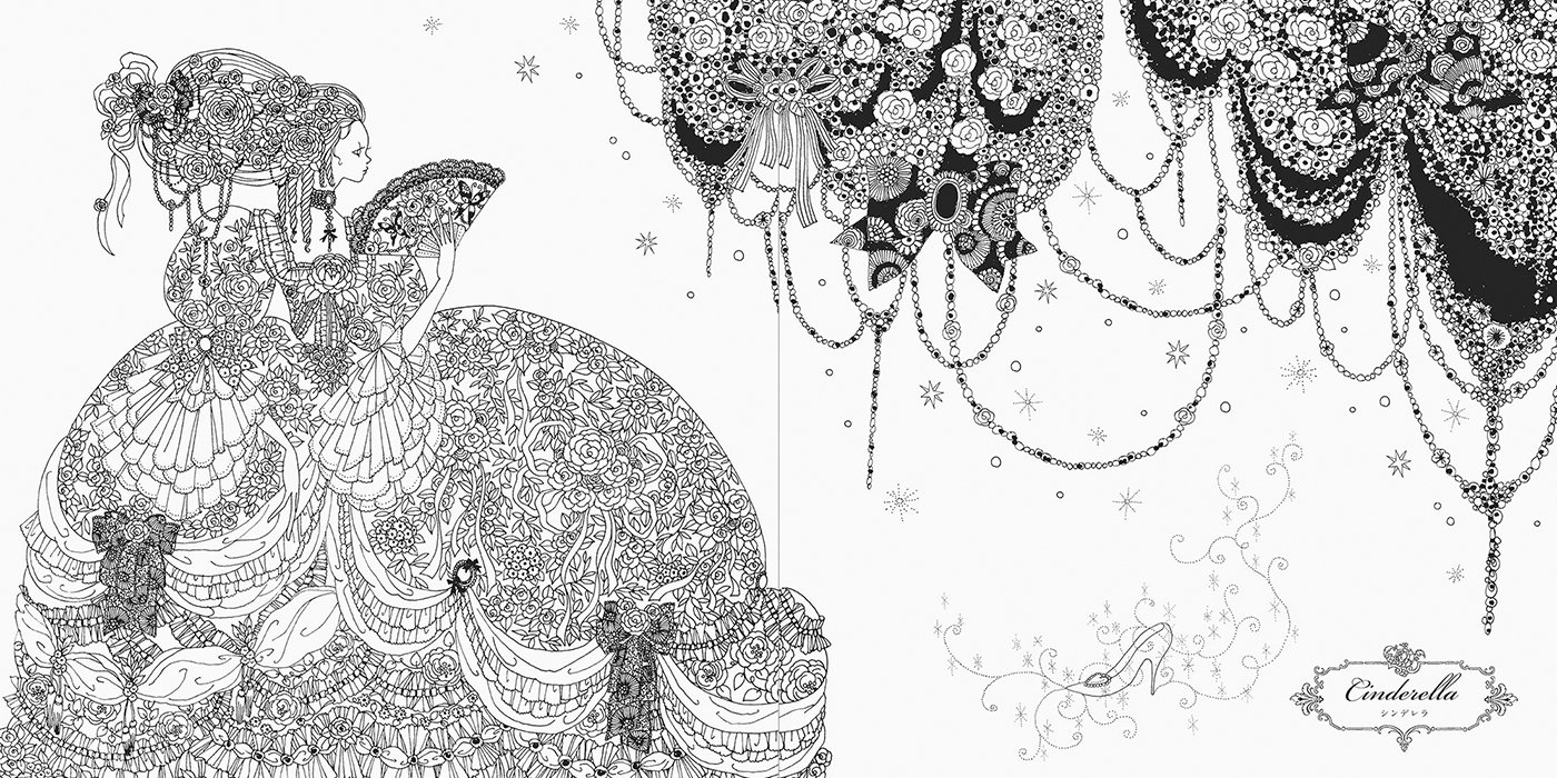coloring book week princesses and fairies colouring book by tomoko tashiro