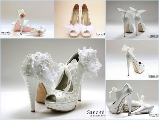 Gelinlik Ayakkabı Modelleri 2012