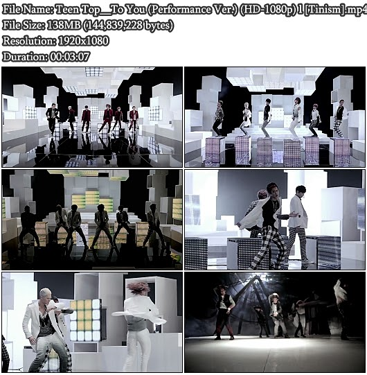 Download MV Teen Top (틴탑) - To You (Performance Version) (Full HD 1080p)