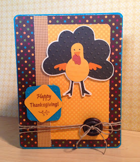 Cricut, Simply Charmed, Swiss Dots, Thanksgiving Card,