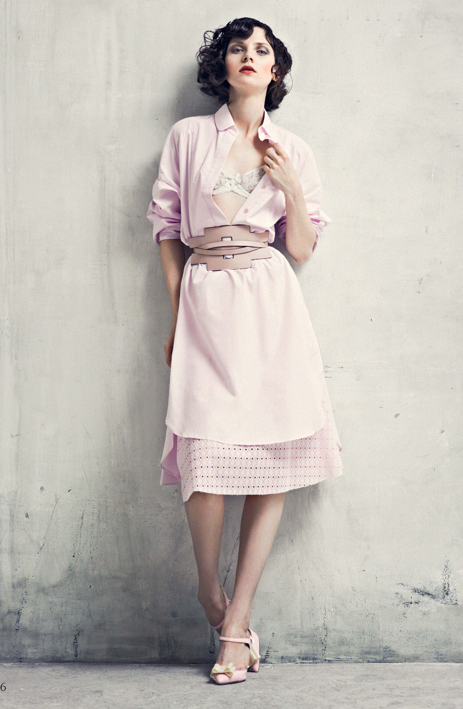 Maria Loks wearing Tod's dress in Shirtdress / How to spend it May 2014 (photography: David Ferrua, styling: Damian Foxe) / wardrobe essentials / history of shirtdress / shirtwaist dress story / via fashioned by love british fashion blog