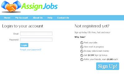 assign jobs,memberi bonus, secara percuma, daftar, sign in, sign up, pelaburan yang menguntungkan.