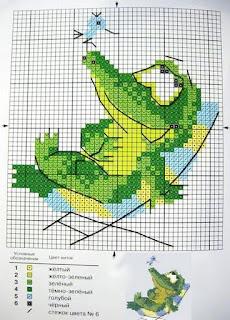 Вышивка бисером, схемы бесплатно: крокодильчик