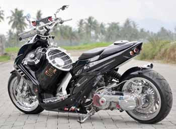 Modifikasi Motor Matic Yamaha Mio