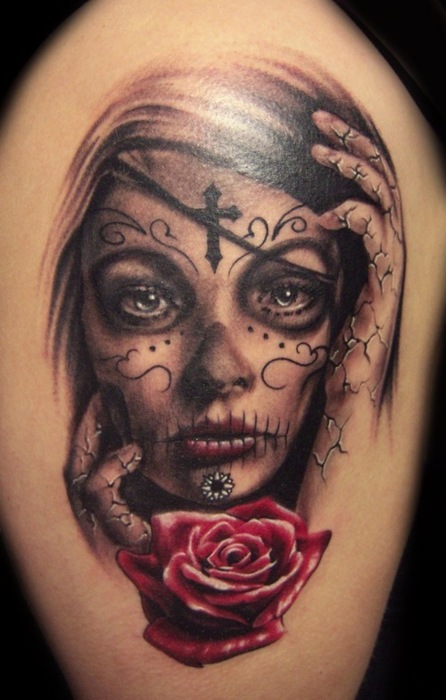 Day of the Dead Skull Tattoo Designs