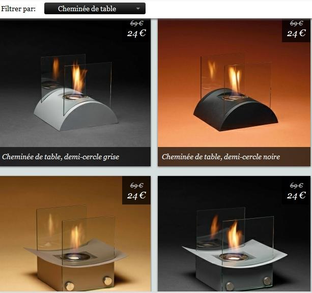 Cadeau original et design: la cheminée de table 24€ au lieu de 69€ bon plan fête des meres