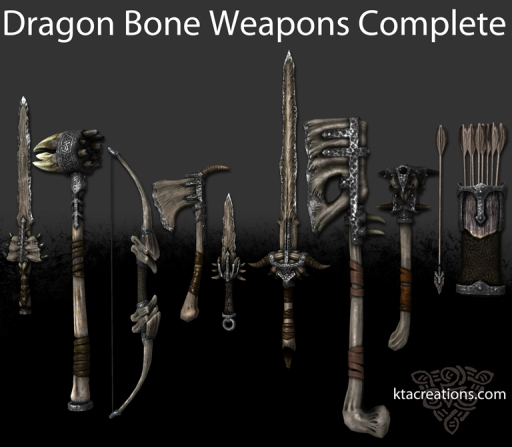 Dragon Bone Weapons Complete by KTA creations, I found the warhammer