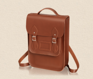 tan satchel backpack