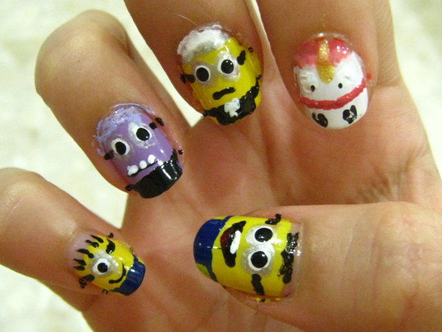 11 marvelous minion nail designs