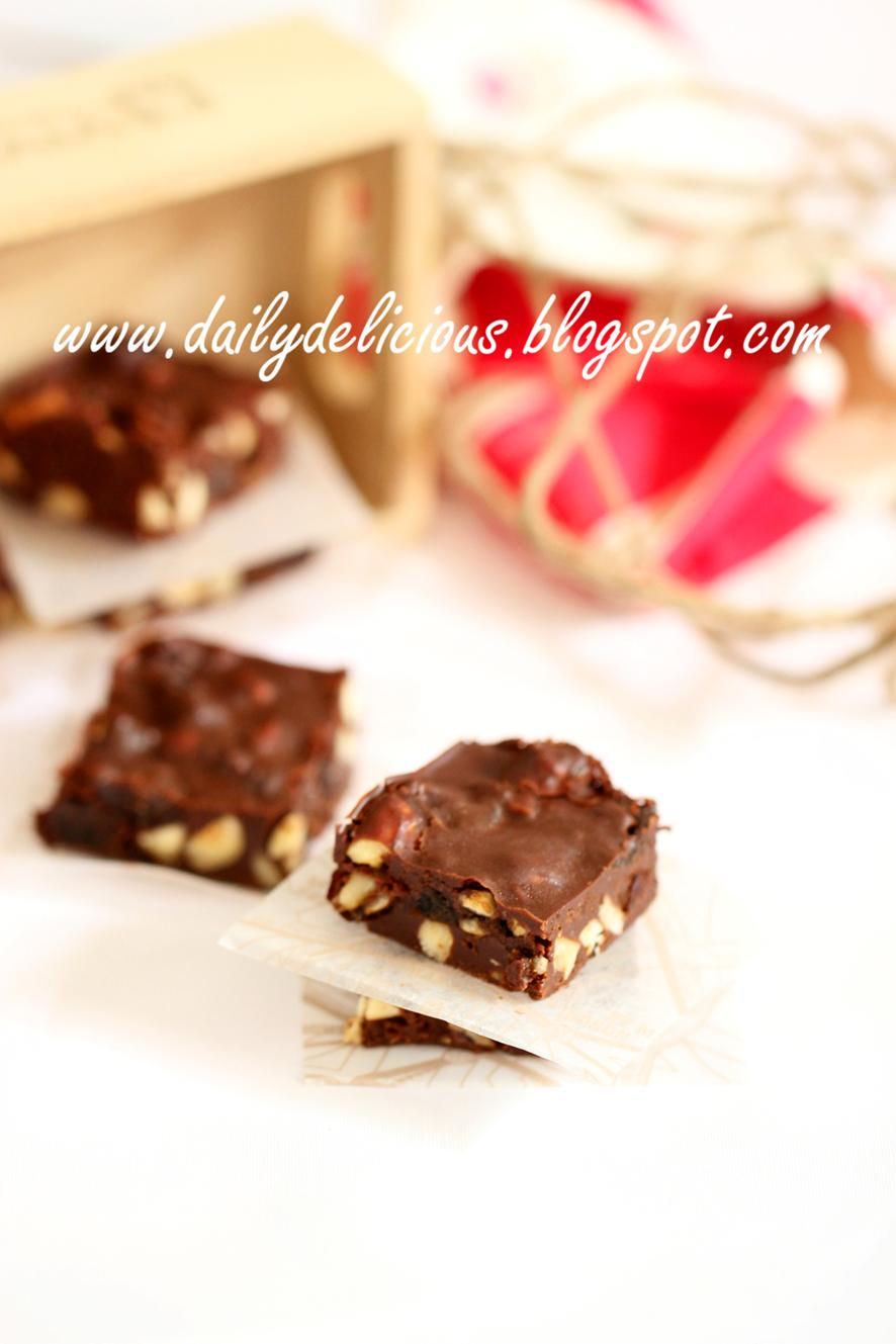 Prune and hazelnut chocolate squares: Delicious chocolate for grown up ...