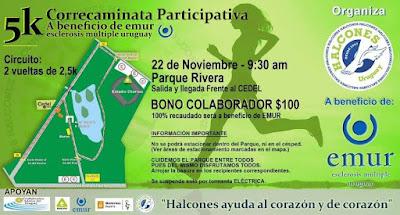 5k por EMUR en parque Rivera (org: Halcones; 22/nov/2015)