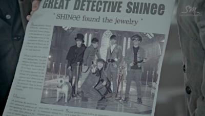 SHINee Sherlock newspaper English