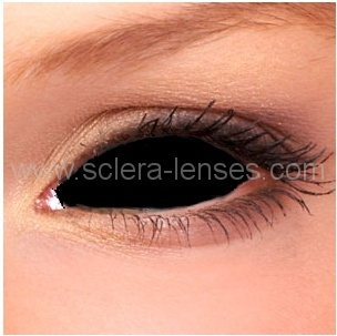 Black Sclera Contact Lenses (22 mm) - 1 pair