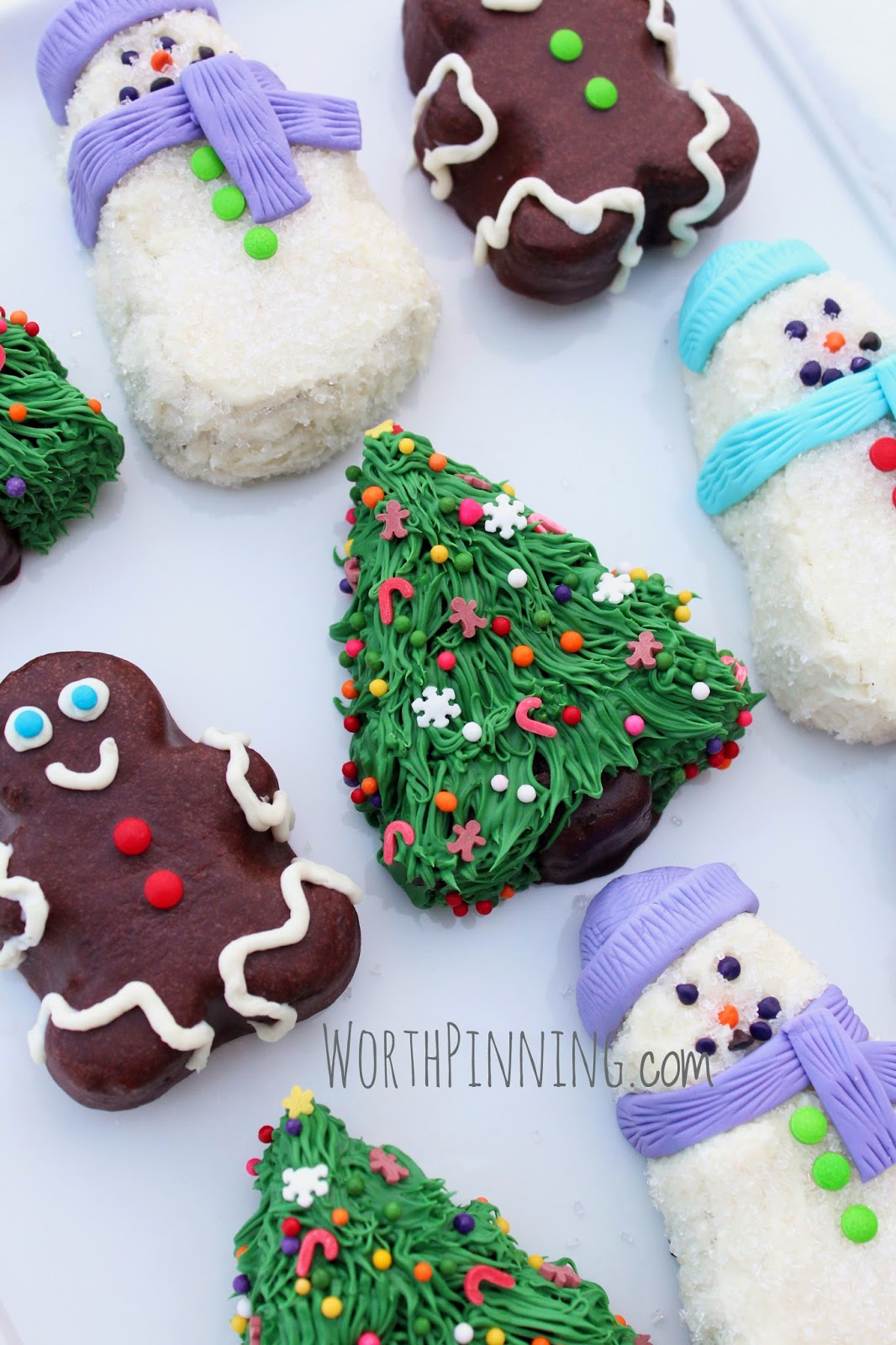Christmas Chocolate Mini Cakes