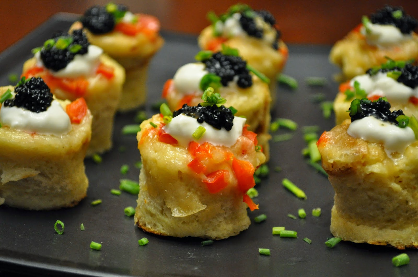 Slow Cooker Sourdough Savory French Toast Bites with Caviar