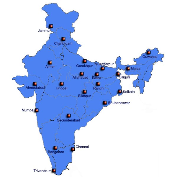 Railway Recruitment Board's Map
