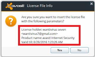 """Key Avast Internet Security 3 Tahun """"Wantivirus7 Key"""""""