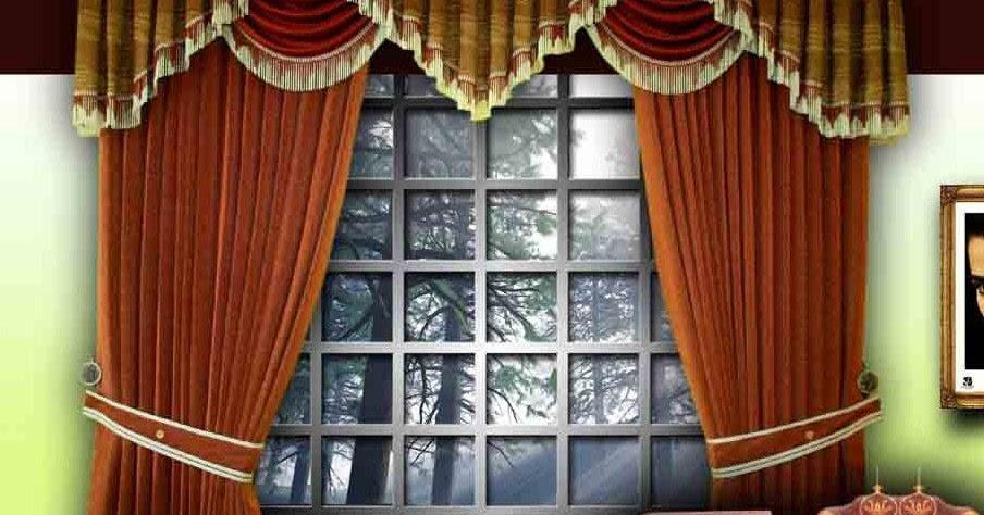 Classic Spanish Windows Curtain Design For Living Room
