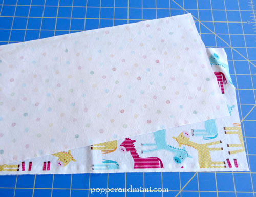 Reusable Fabric Sandwich Bag sew with right sides together | popperandmimi.com