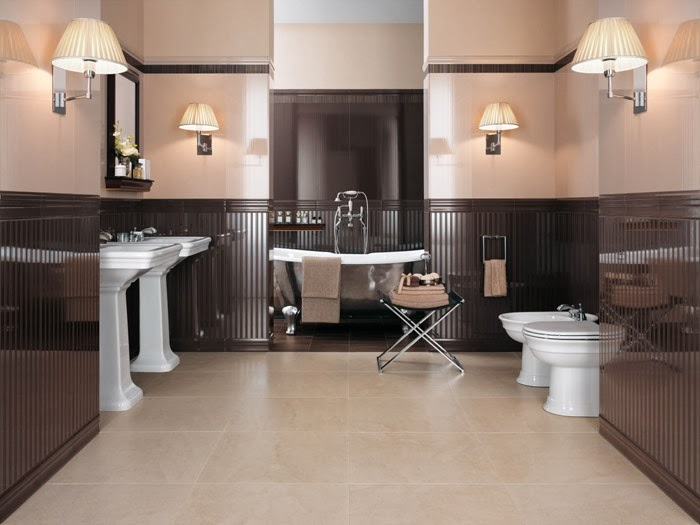Accesorios Baño Beige:Lindos baños en beige y marrón – Colores en Casa