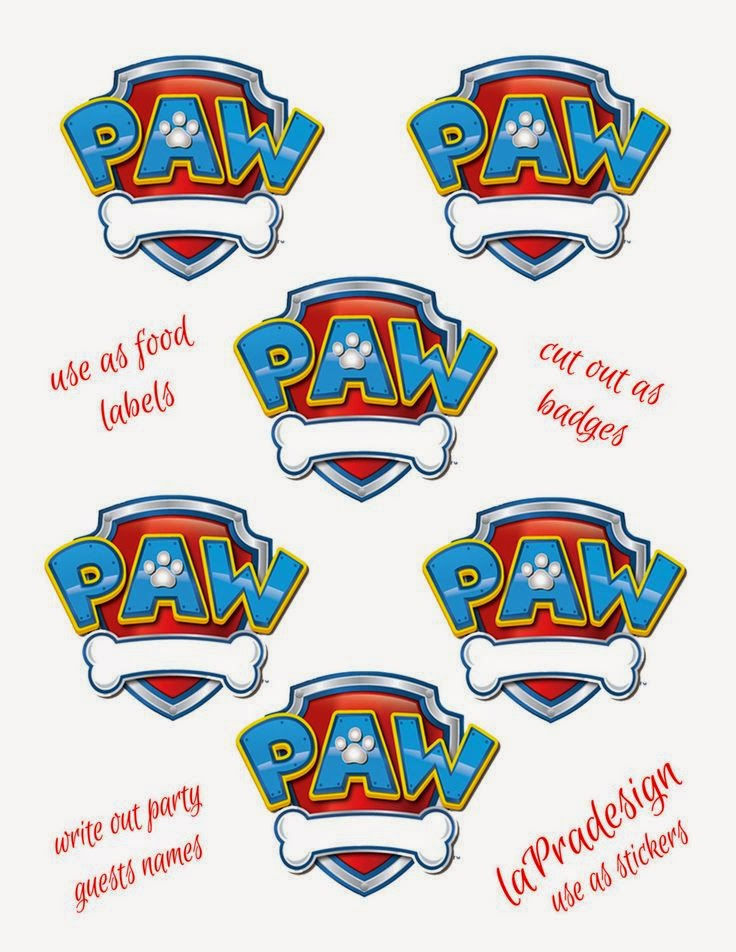 Gutsy image within paw patrol badge template printable